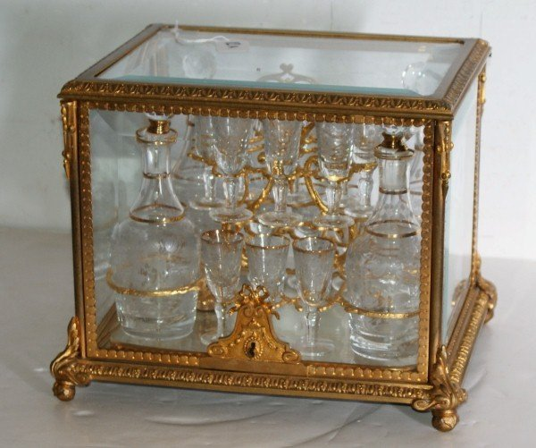 12A:Exceptional quality French gilt-bronze and etched
