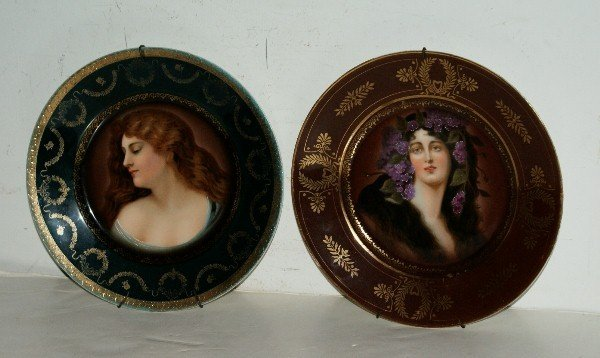 18C: Two Royal Vienna portrait plates