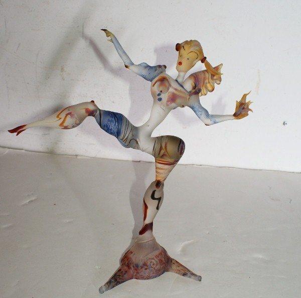 17A: Murano Art Glass figure.