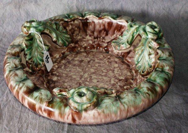 "16: German glazed pottery bowl. 14"""