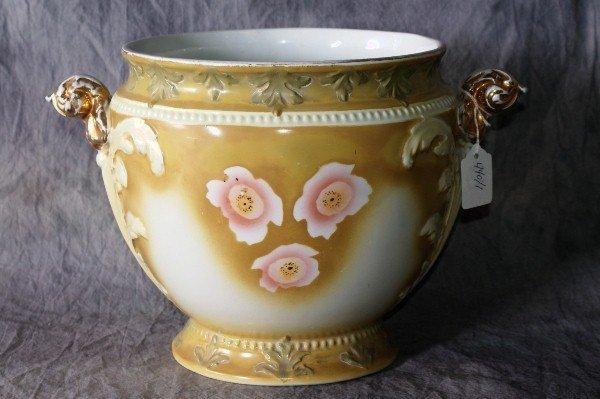 """17: Burslem porcelain two handle pot. 9"""""""