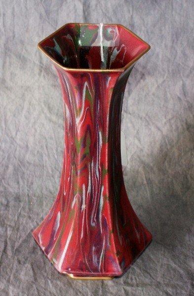 """20: English glazed pottery vase. 9 1/4"""""""