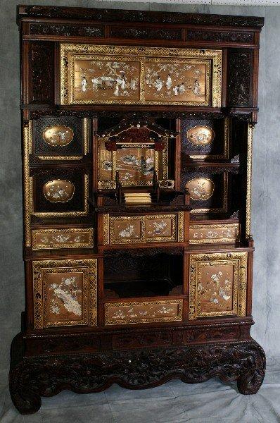 95A: Fine Meiji  period  Japanese Shibayama cabinet
