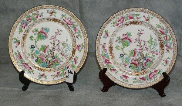 1: Two Royal Daulton plates