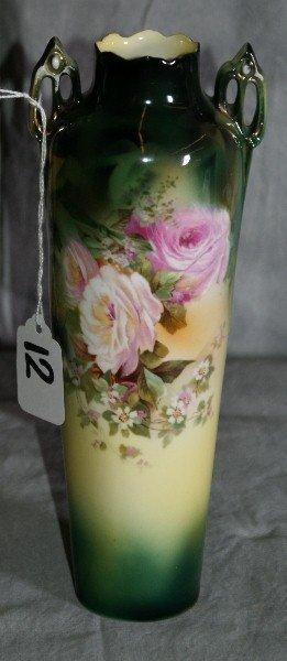 12: R S Prussia porcelain vase.