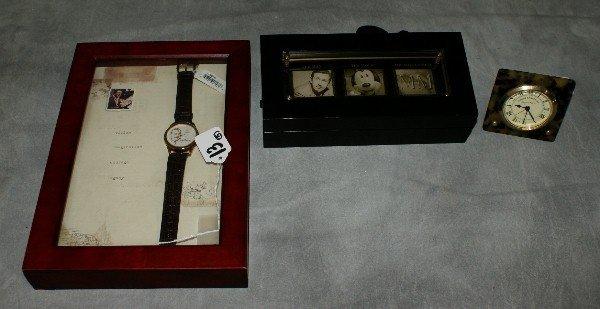 13: Four Disney watches and one Quartz alarm clock,