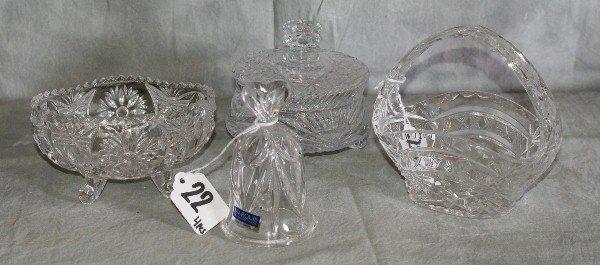 22: Four pieces of crystal,