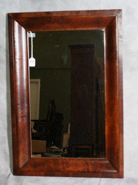 """5: 19th C Empire mirror. H:32"""" W:22"""""""