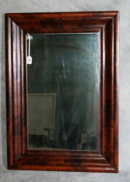 """11: Empire style wood mirror . H:35"""" W:25"""""""