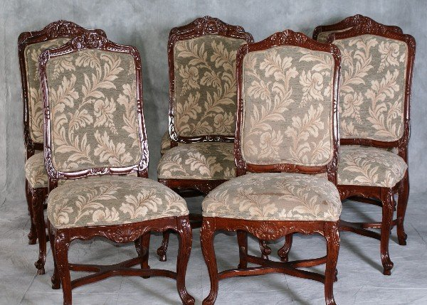 21: Set of eight Regence style mahogany dining chairs c