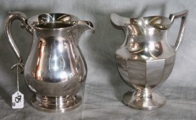 Two Silver Plate Pitchers. H:9""