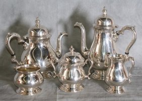 Five Piece International Sterling Silver Coffee And