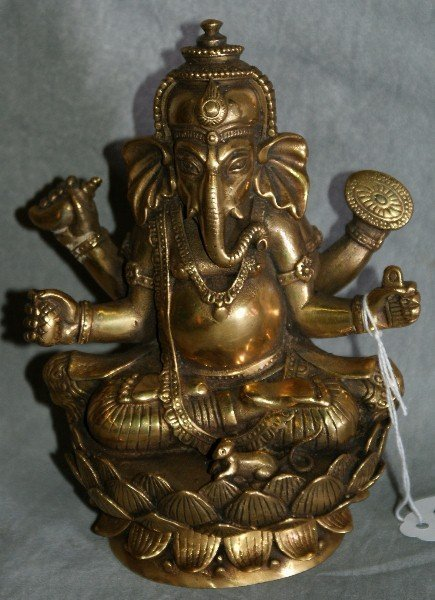 """125: Chinese bronze statue of a Ganesh. H:6"""""""