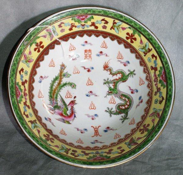 "3:  Chinese porcelain bowl. D:9""."