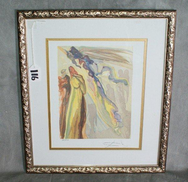 116:  Salvador Dali print number 12 of 500 signed lower