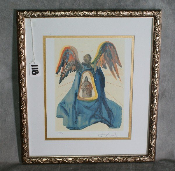 118:  Salvadore Dali print signed lower right numbered