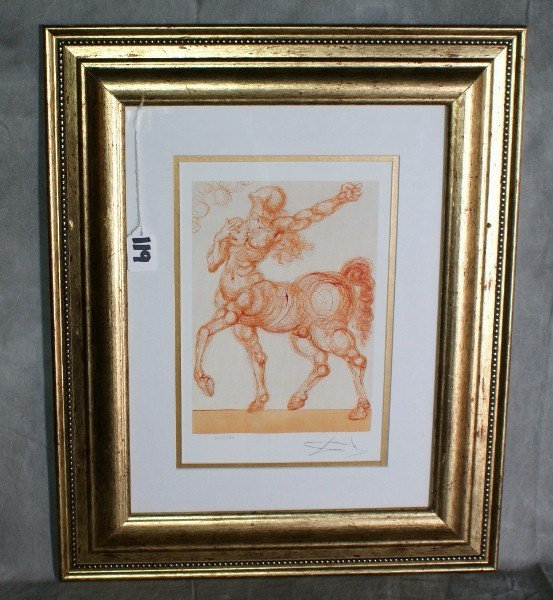 119:  Salvadore Dali print signed lowr right numbred 22