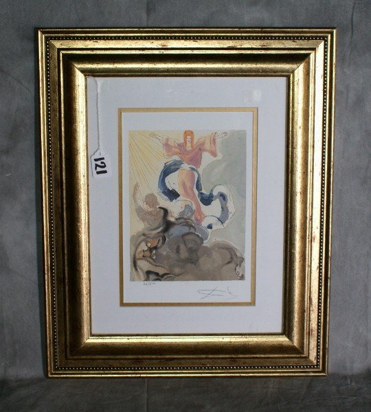 121:  Salvadore Dali print signed lower right numbered