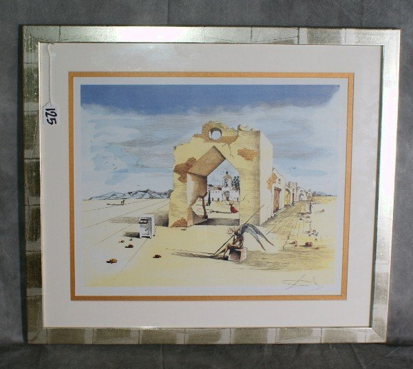 125:  Salvadore Dali lithograph signed lower right. H:2