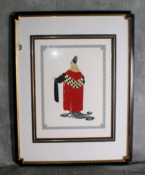 126:  Erte lithograph titled Gale performance numbered