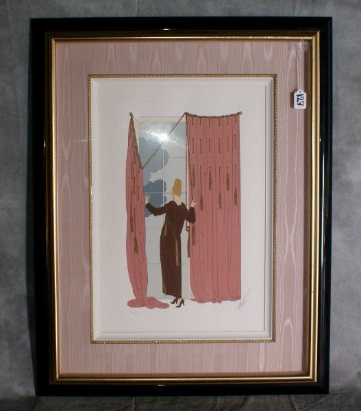 127:  Erte lithograph number 176 of 300 pencil signed l