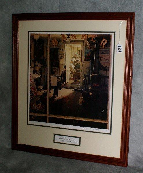 129:  Norman Rockwell's ''Shuffleton's Barber Shop. pen