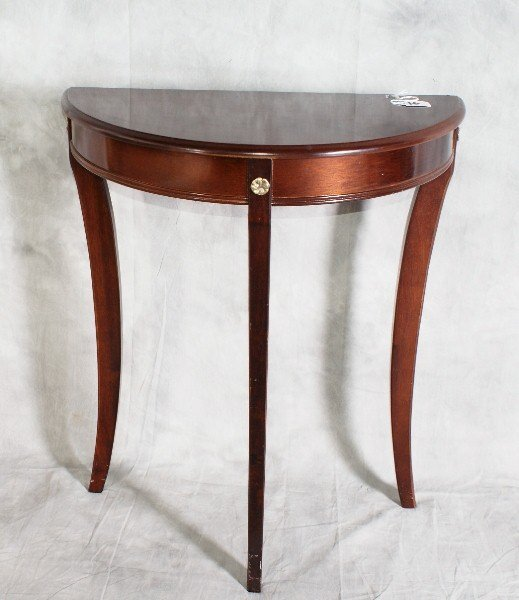 """16:  Mohogany console table . H:28"""" W:24"""" D:12""""."""