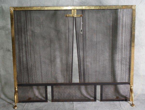 brass fireplace screen h 31