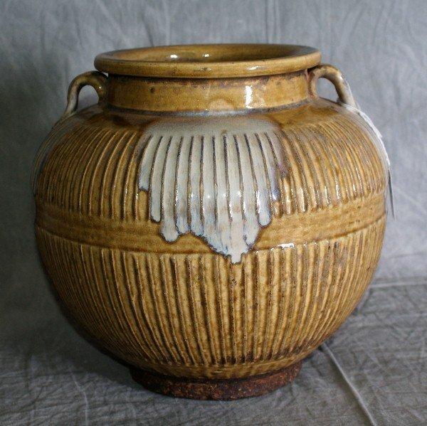 "14:  Chinese ceramic planter. H:9.5"" D:10""."