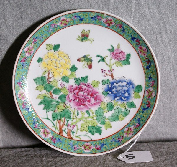 """5: Chinese porcelain plate. D:7.5"""""""