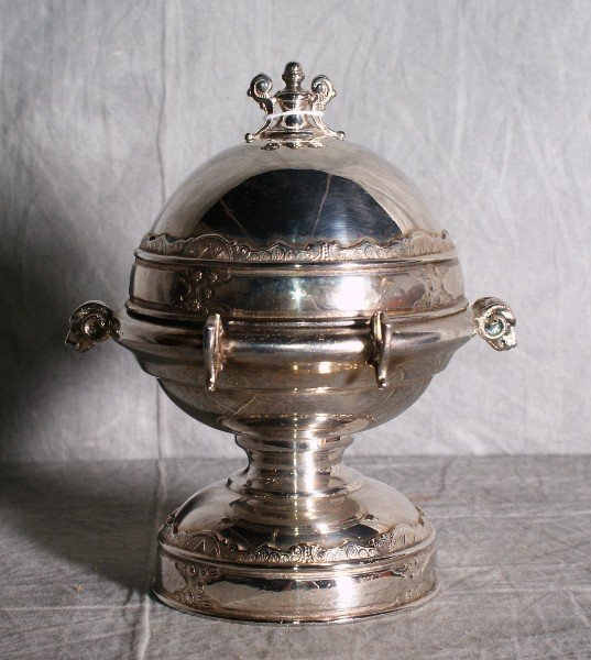 2:  American silver plate dome covered butter dish with