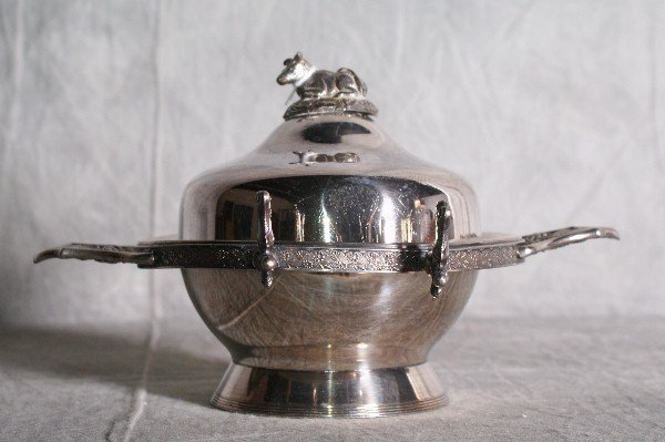 4:  American silver plate Rogers & bros covered butter