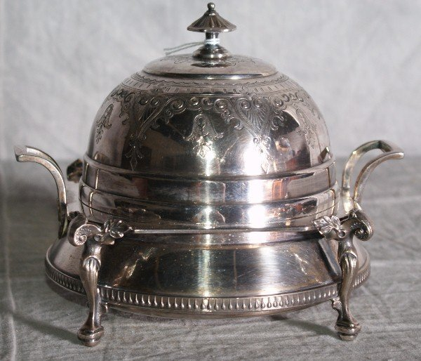 7:  American Redfield Rice silver plate dome covered bu