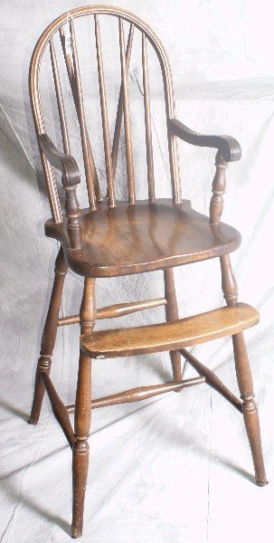 "22: 19th C childs chair. H:40"" W:15"" D:19"""