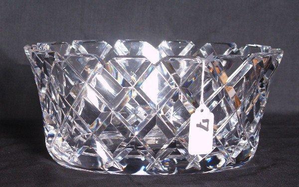"""Large Orrefors crystal center bowl. H:5"""" L:10"""" W7"""""""