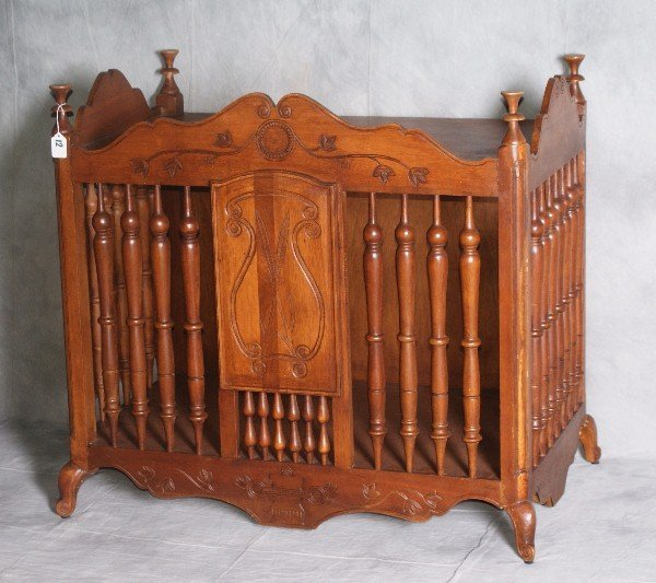 """French Mahogany panetiere (bread cabinet). H:31.5"""" L:34"""