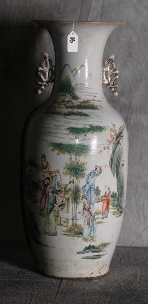 "Large Chinese republic period porcelain vase. H:23"""