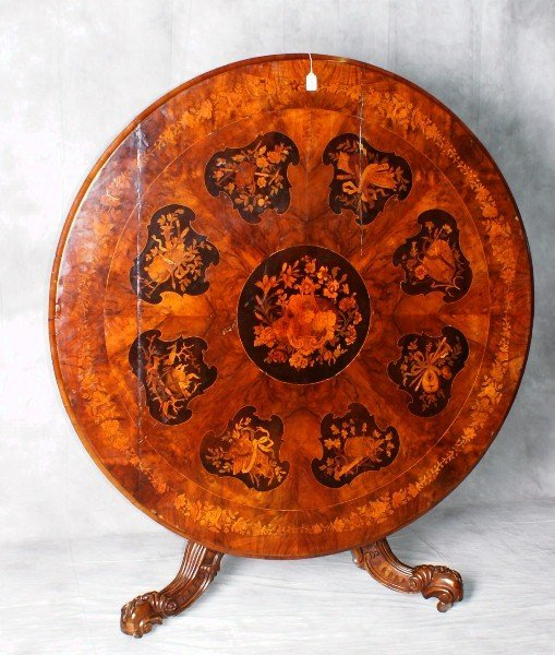 Very Large 18th/19th C Italian heavily inlaid tilt top
