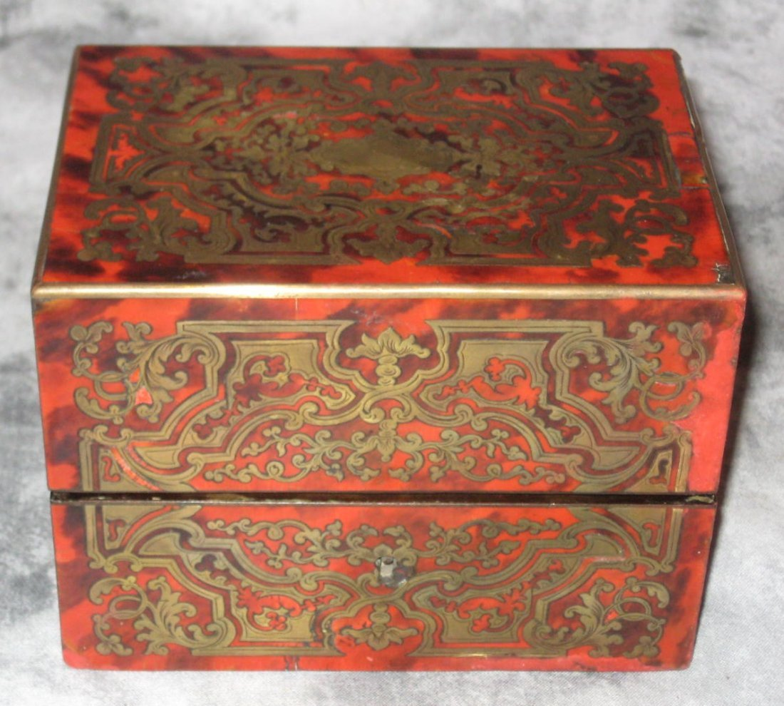 Napoleon III Boulle and red tortoiseshell perfume box