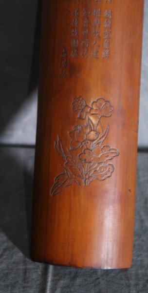 """Chinese wood wrist rest . L:10. 5"""" W:3"""". - 3"""