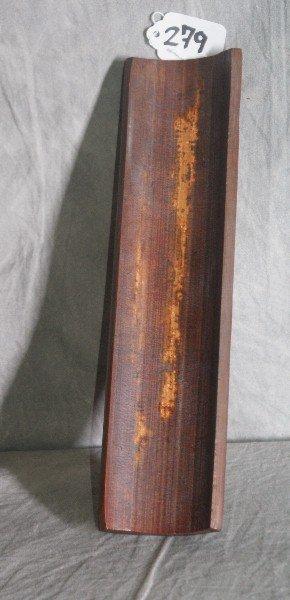 """Chinese wood wrist rest . L:10. 5"""" W:3"""". - 4"""