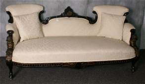 American Victorian bronze mounted sofa with bronze mou