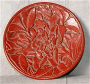 17th C or earlier Chinese laquered plate.