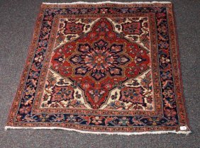 Antique Persian Heriz 4'3 X 4'