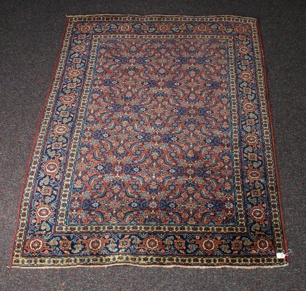 Antique persian Kashan . 6'5 X 4'8