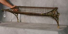 """Antique Belgium wire hanging shelf. H:10. 5"""" L:32"""" D:1"""