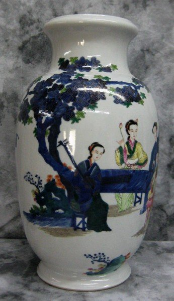 Large 19th C Chinese Doucai porcelain vase