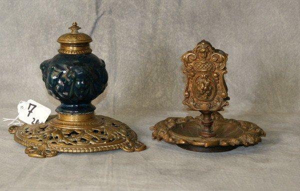 2 piece bronze desk articles