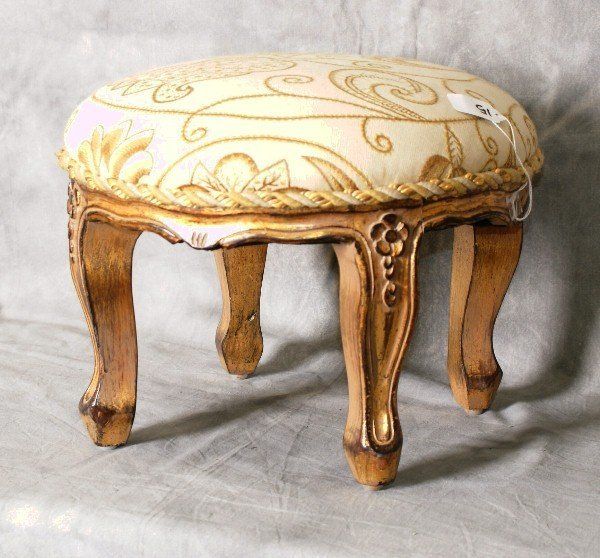 Giltwood foot stool