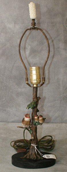 Vienna Bronze Bird lamp